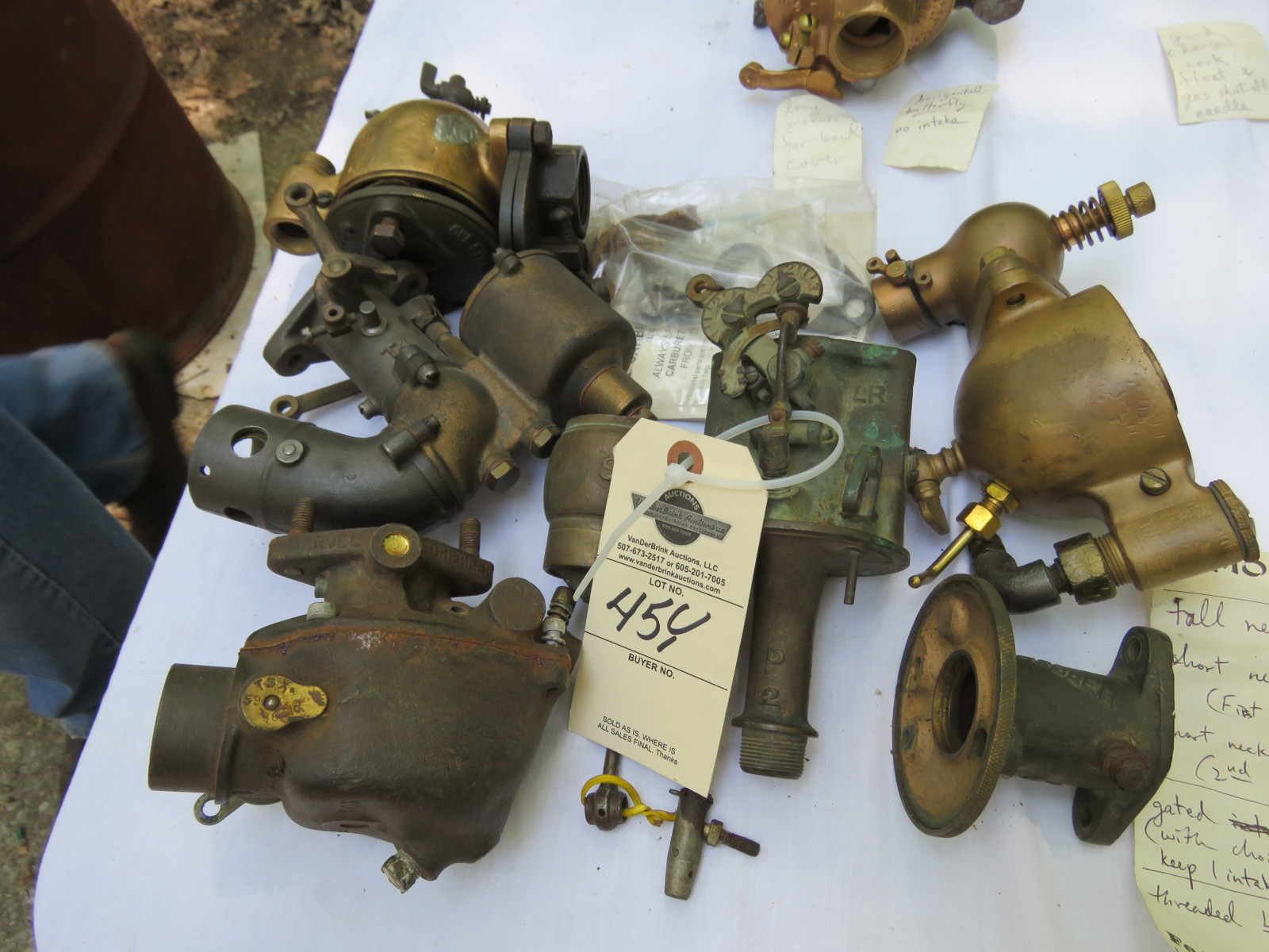 Schebler Carburetor Parts Grouping - Image 1