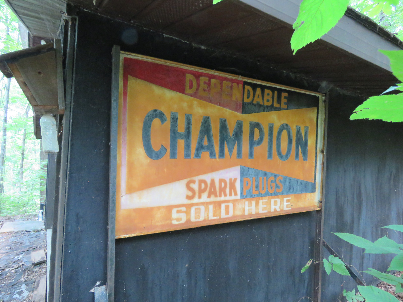 Champion Single Sided Painted Tin Sign - Image 1