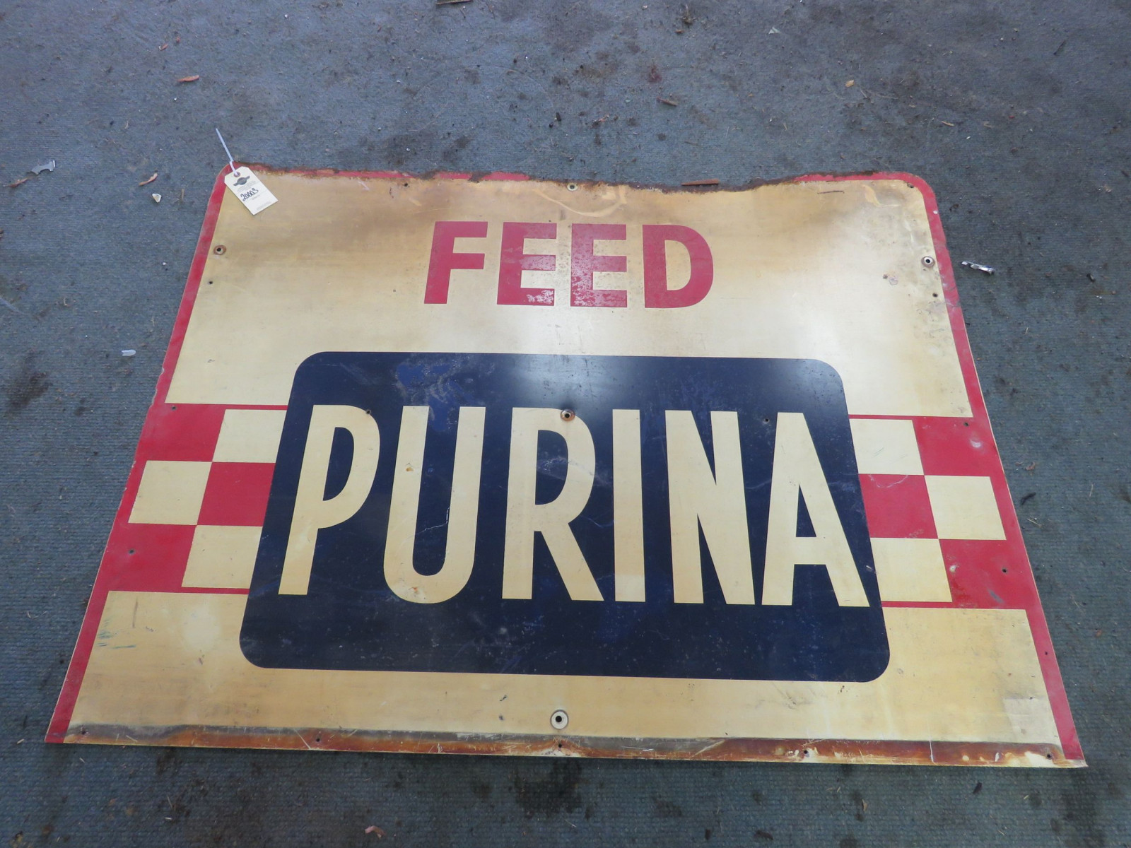 Purina SS Painted Tin Sign - Image 1