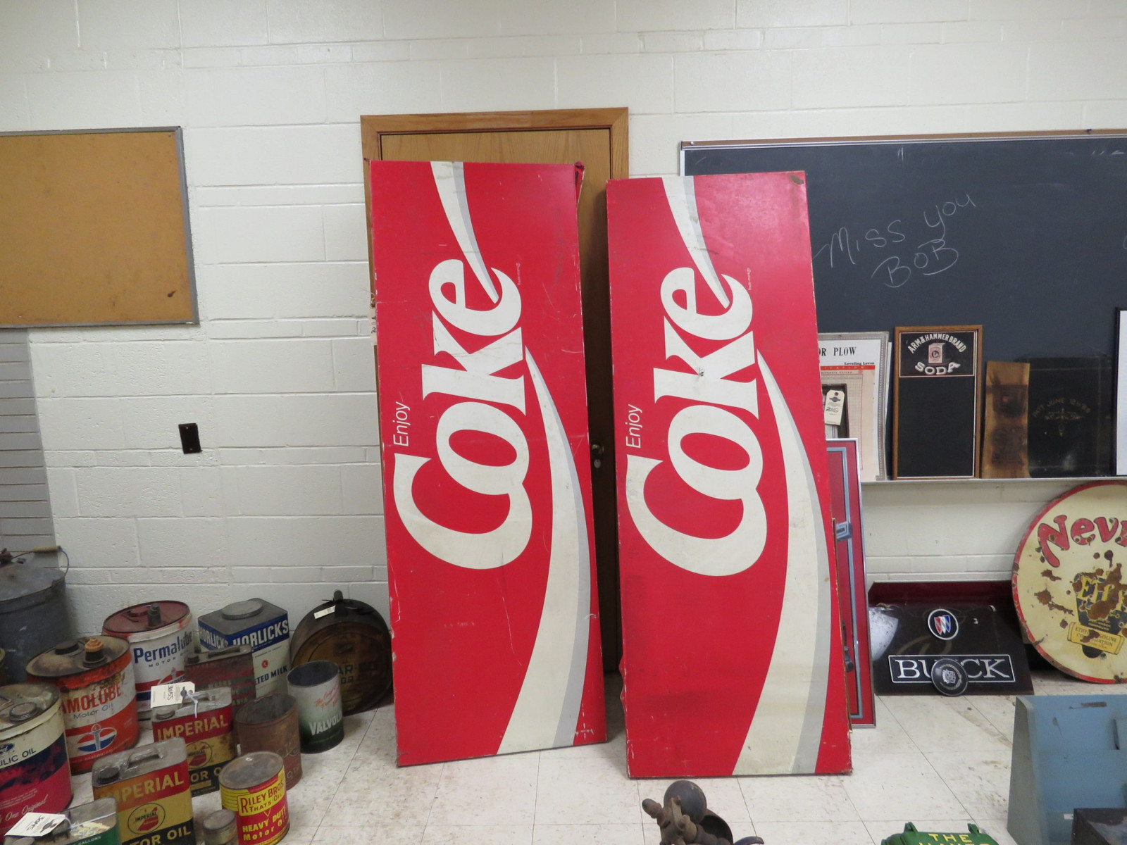 2 Large Fiberglass Coca Cola Signs - Image 1