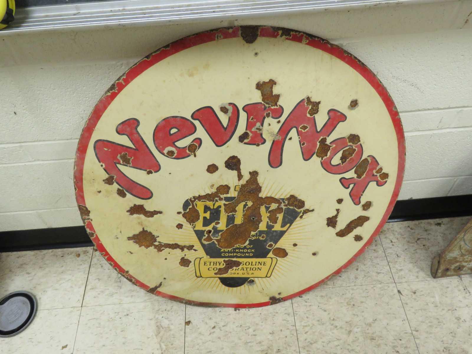 NevrNox Ethyl Porcelain Sign - Image 1