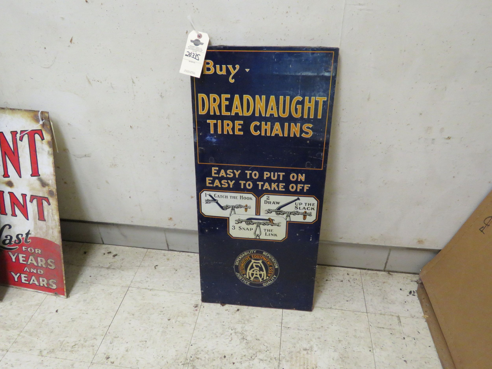 Dread Naught Pressed Board Sign - Image 1