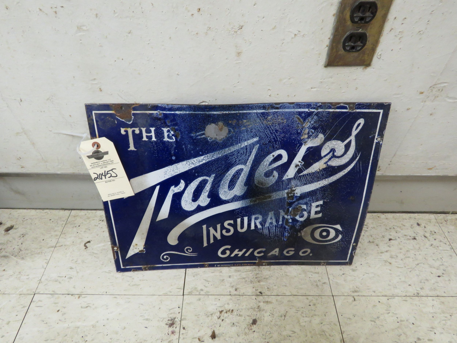 Traders Insurance Porcelain Sign - Image 1