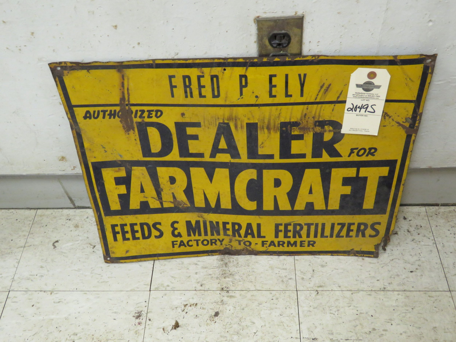 Farm Craft Dealer Sign - Image 1
