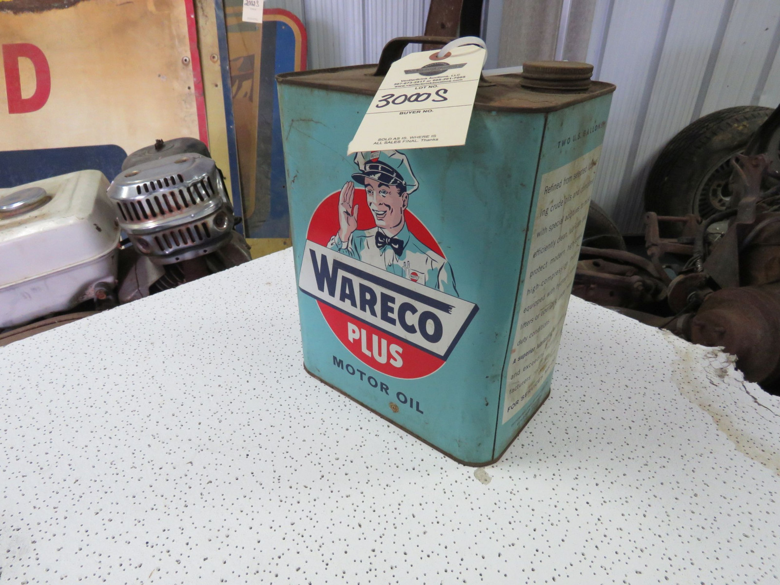 Wareco Plus 1 Gallon Empty Oil Can - Image 1