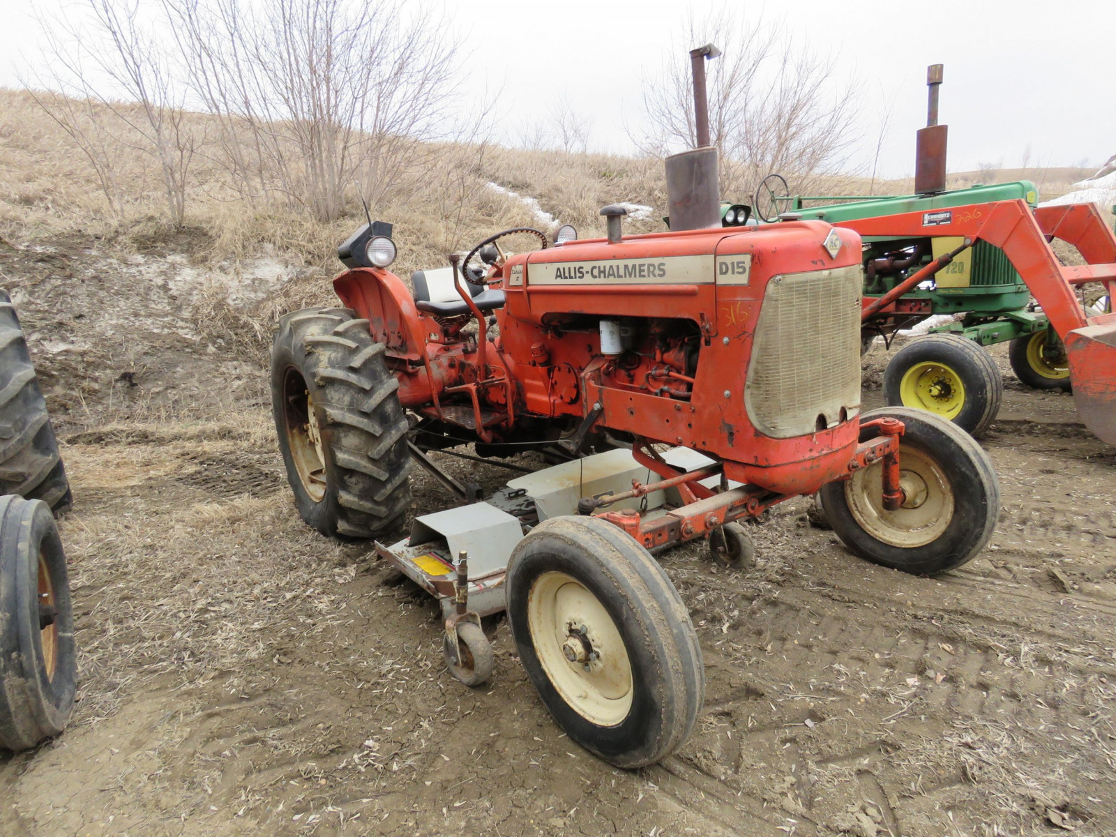 Allis Chalmers D15 with Mower - Image 1