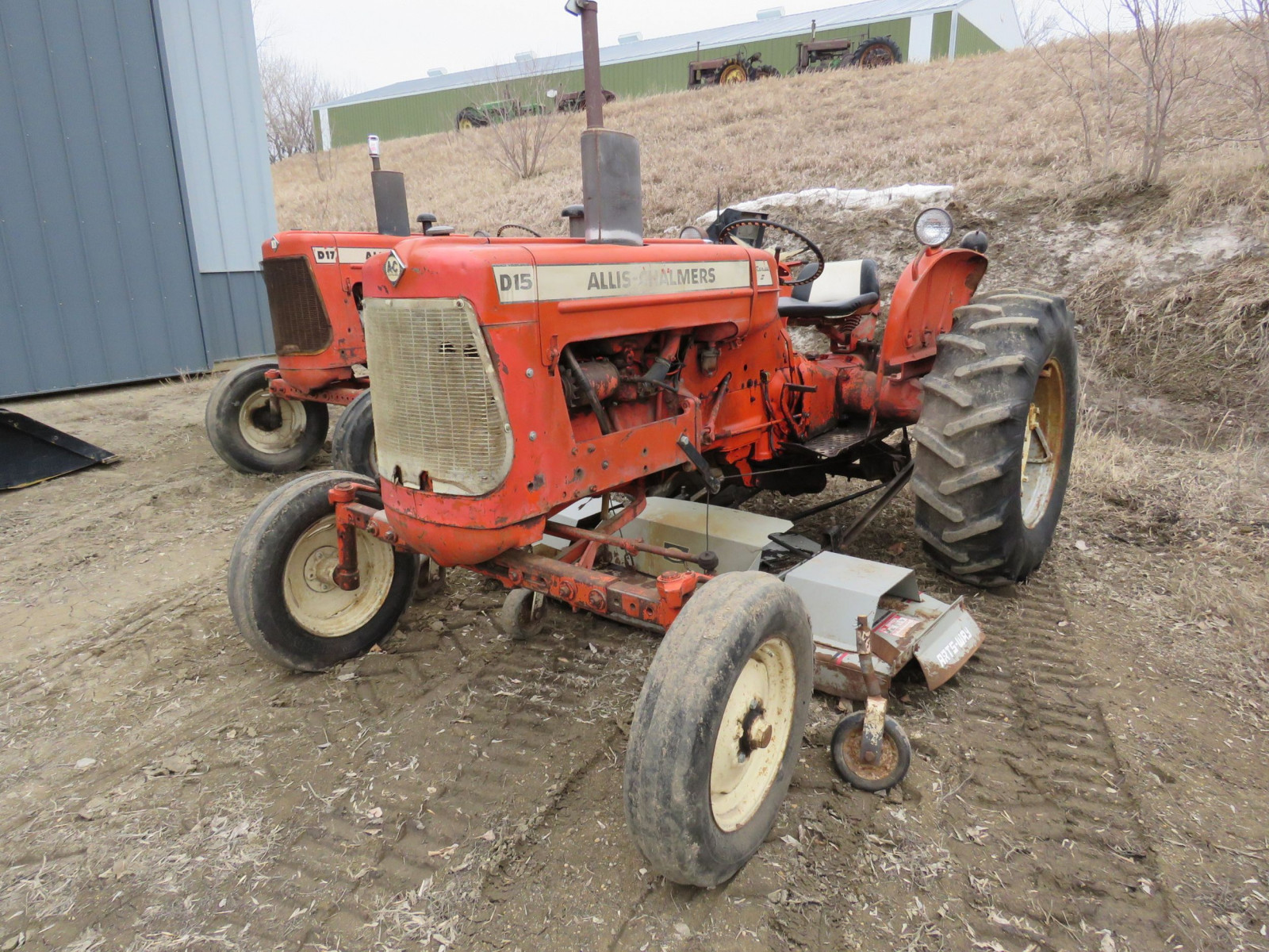 Allis Chalmers D15 with Mower - Image 3