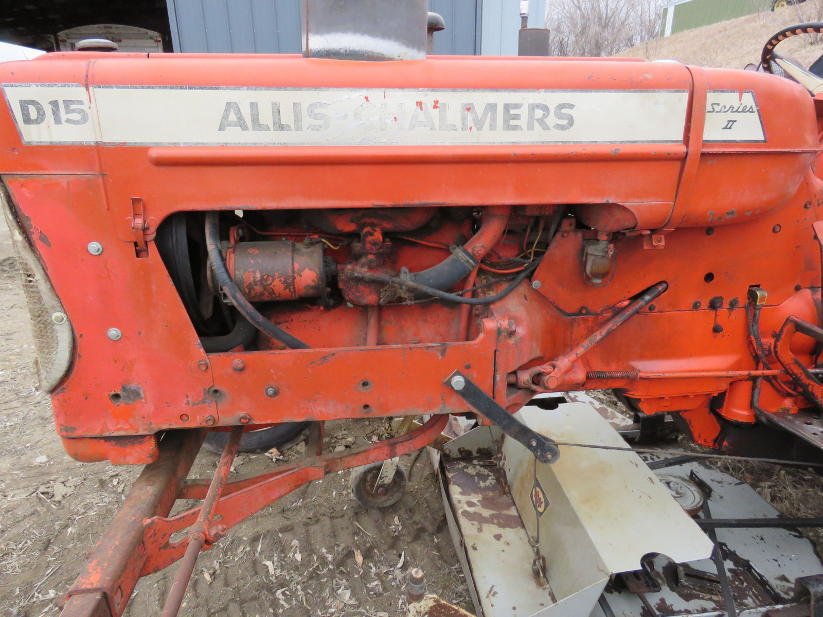 Allis Chalmers D15 with Mower - Image 4