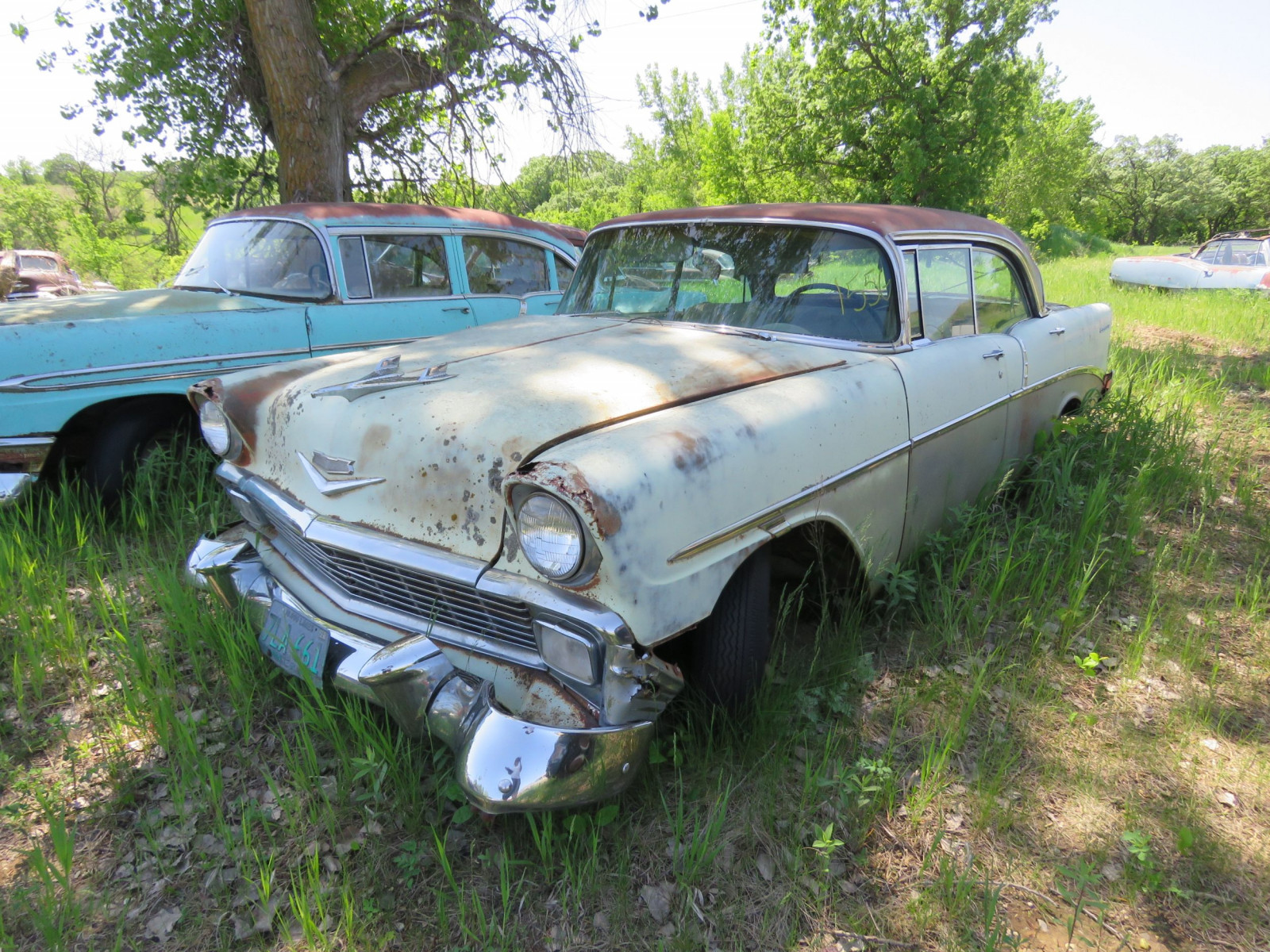 1956 Chevrolet 4dr HT for Project or parts - Image 1