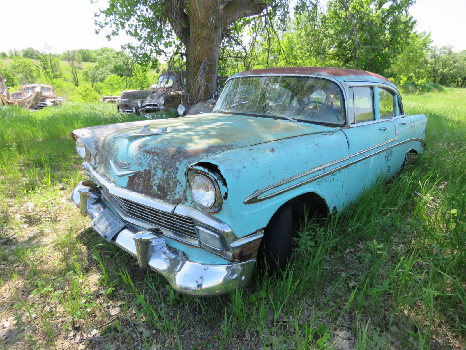 1956 Chevrolet Belair 4dr Sedan for Project or parts VC56J080987 - Image 1