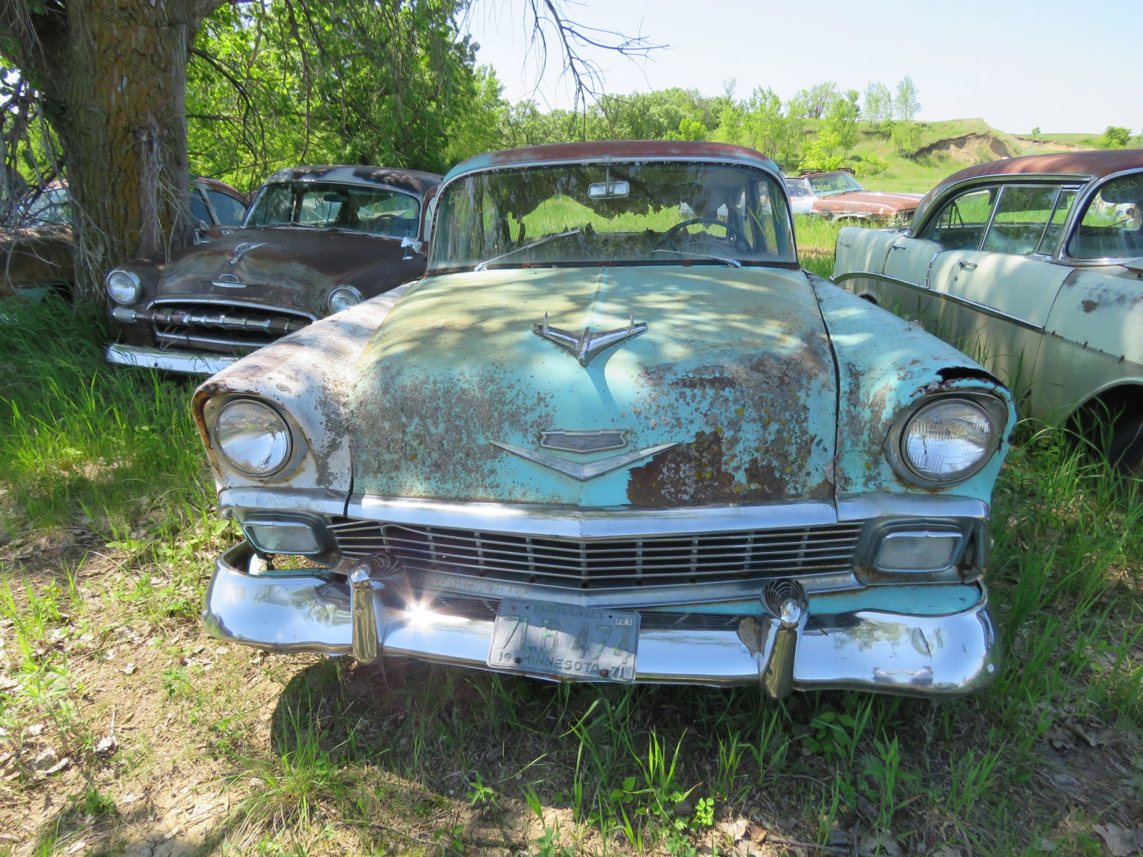 1956 Chevrolet Belair 4dr Sedan for Project or parts VC56J080987 - Image 2