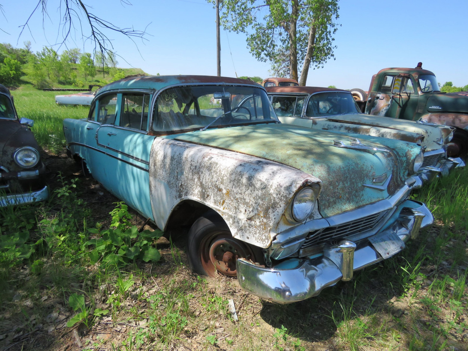 1956 Chevrolet Belair 4dr Sedan for Project or parts VC56J080987 - Image 3
