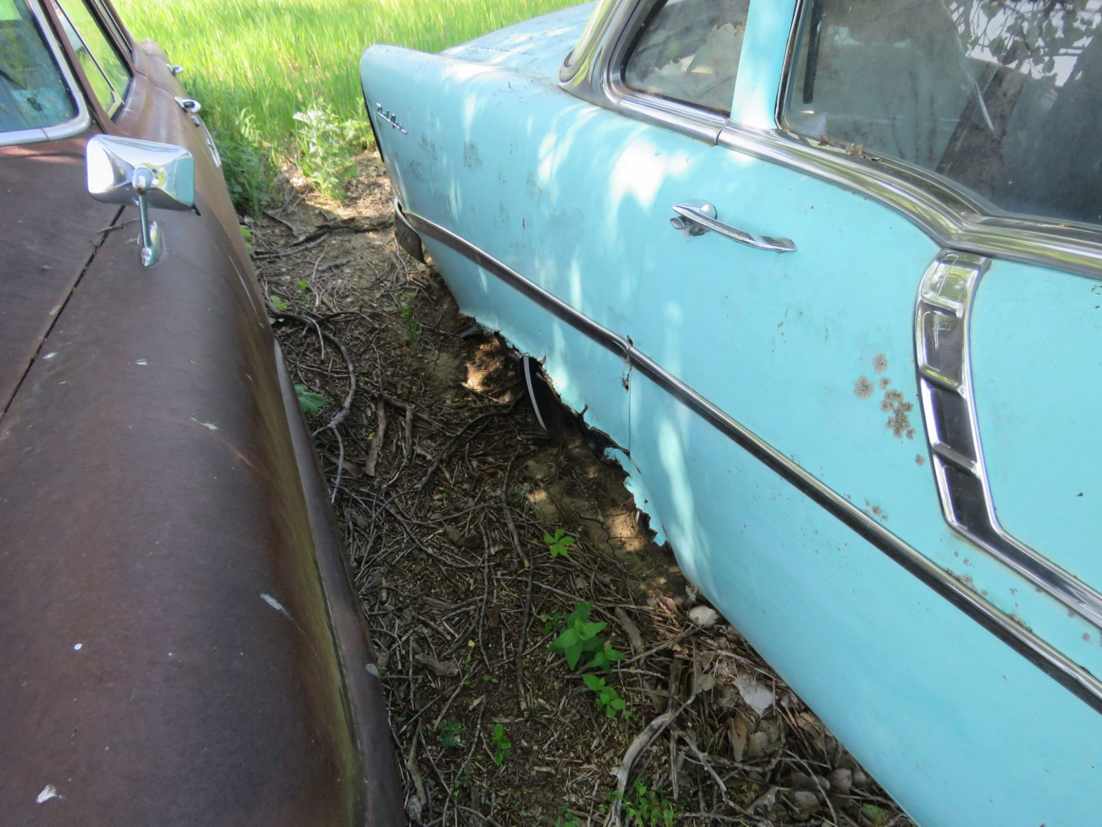 1956 Chevrolet Belair 4dr Sedan for Project or parts VC56J080987 - Image 4