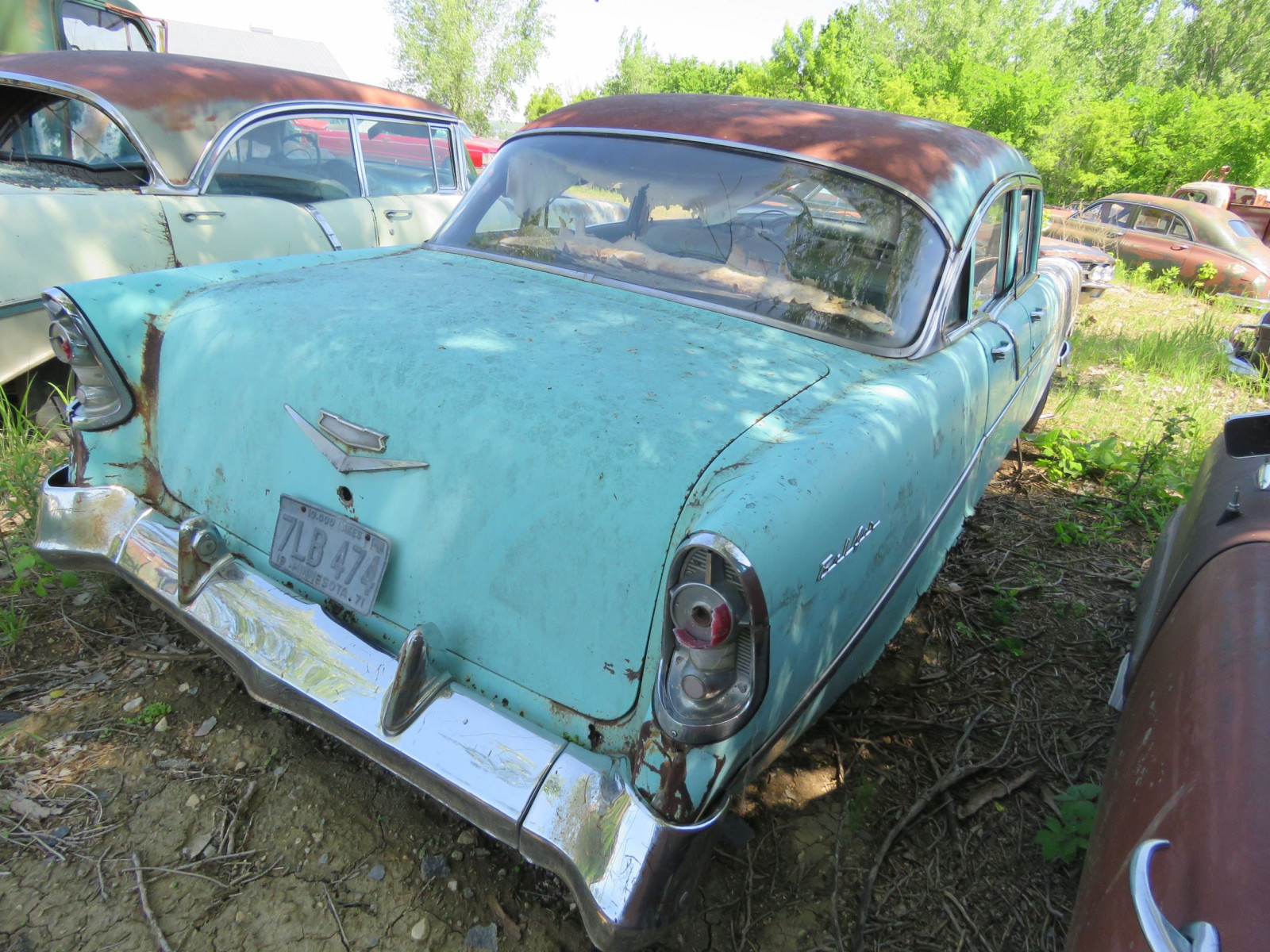 1956 Chevrolet Belair 4dr Sedan for Project or parts VC56J080987 - Image 5