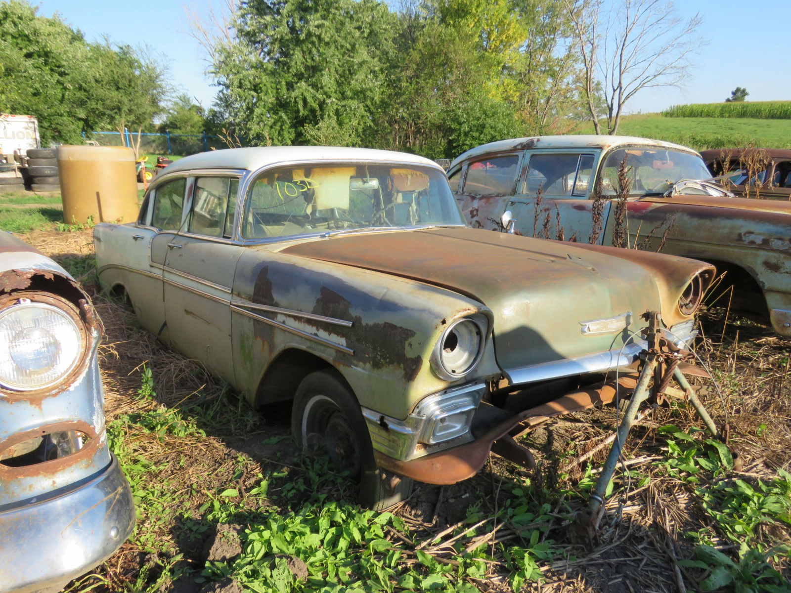1956 Chevrolet Belair 4dr Sedan for Project or Parts - Image 1
