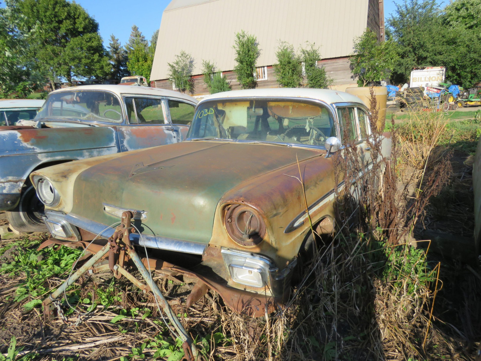 1956 Chevrolet Belair 4dr Sedan for Project or Parts - Image 2