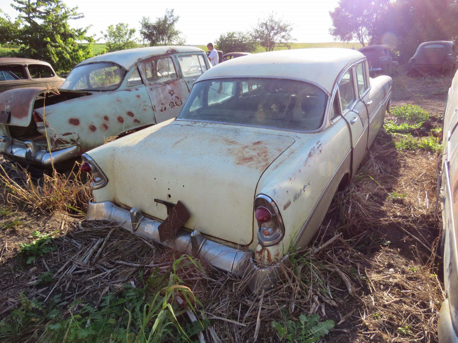 1956 Chevrolet Belair 4dr Sedan for Project or Parts - Image 3