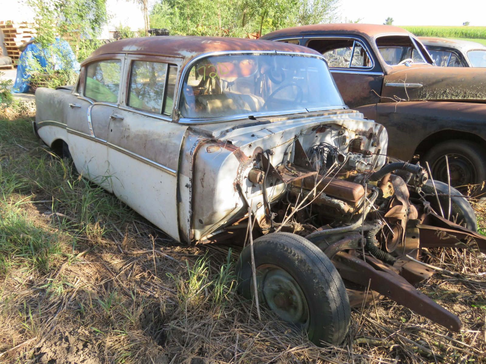 1956 Chevrolet 4dr Sedan for Project or Parts - Image 1
