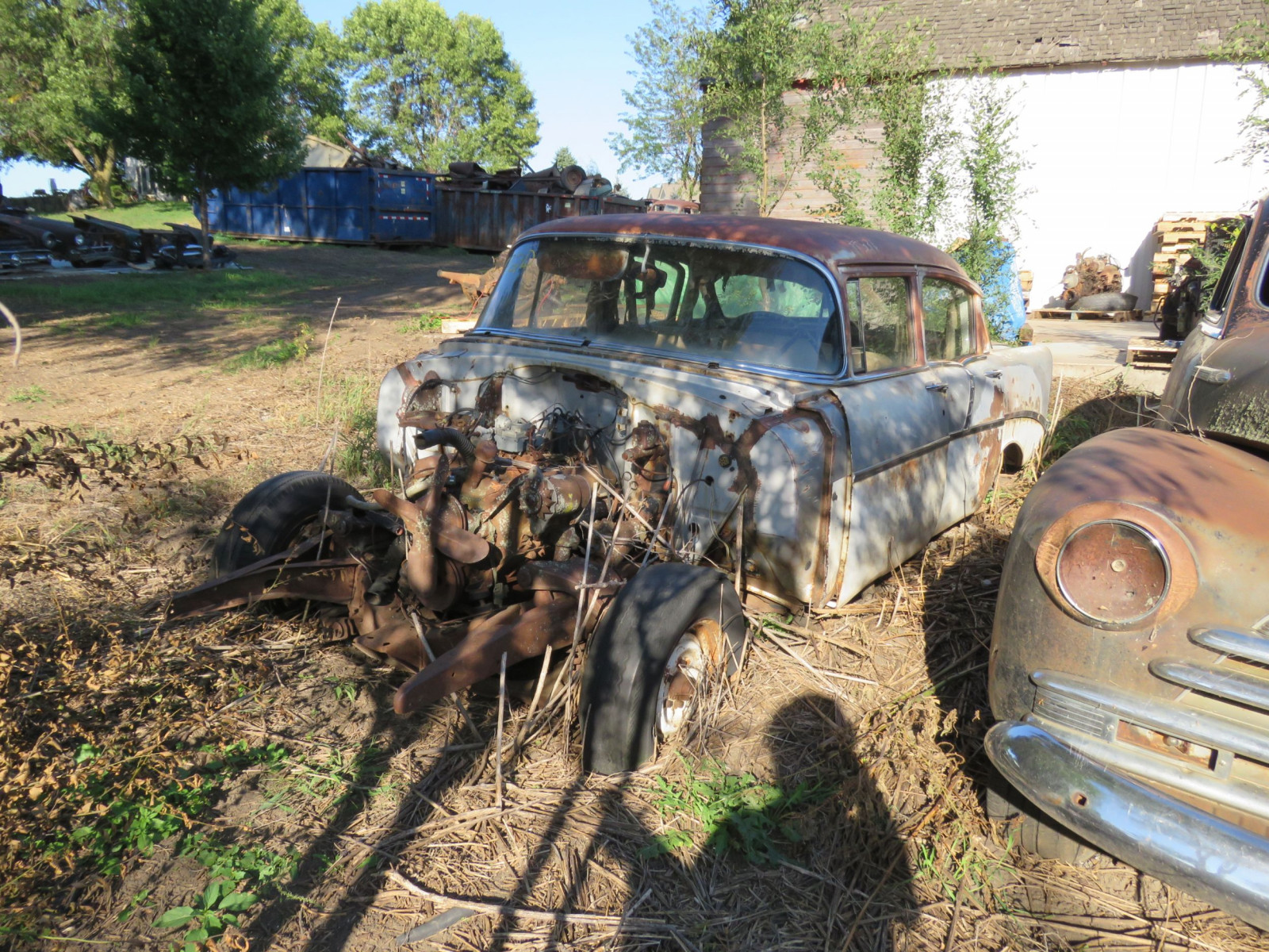 1956 Chevrolet 4dr Sedan for Project or Parts - Image 2