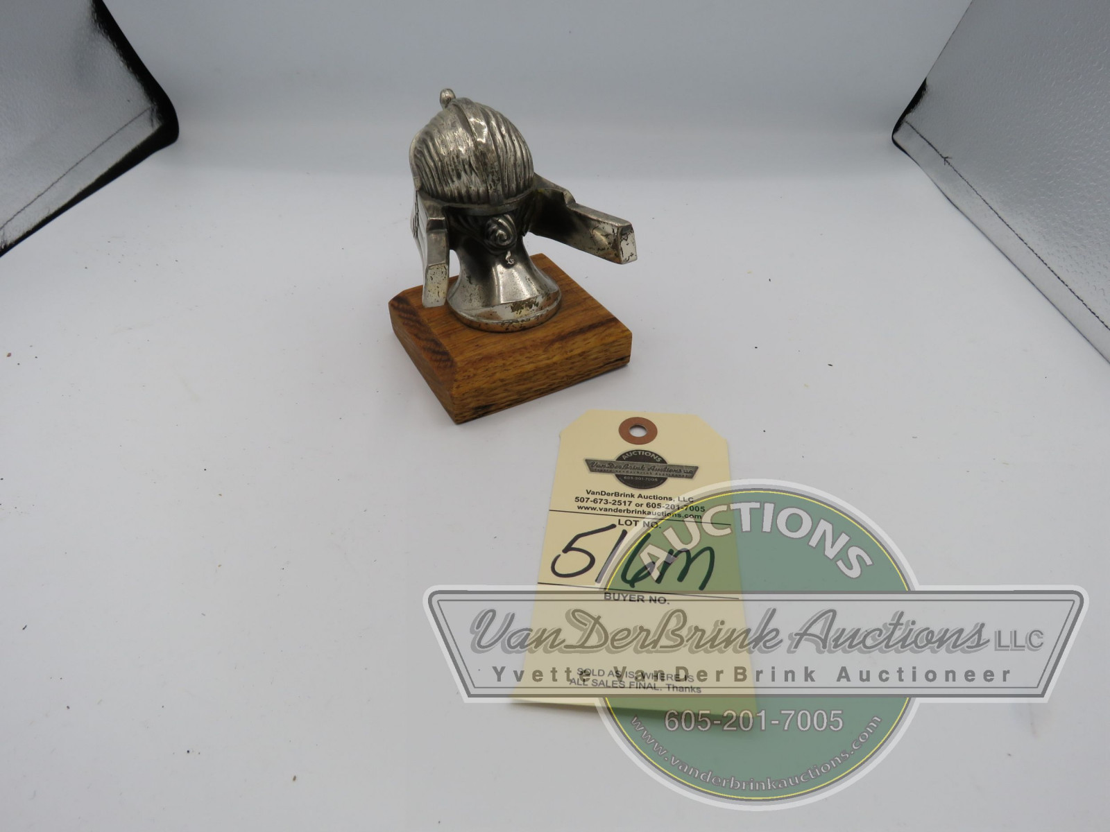 RARE STUTZ INDIAN RADIATOR CAP - Image 2