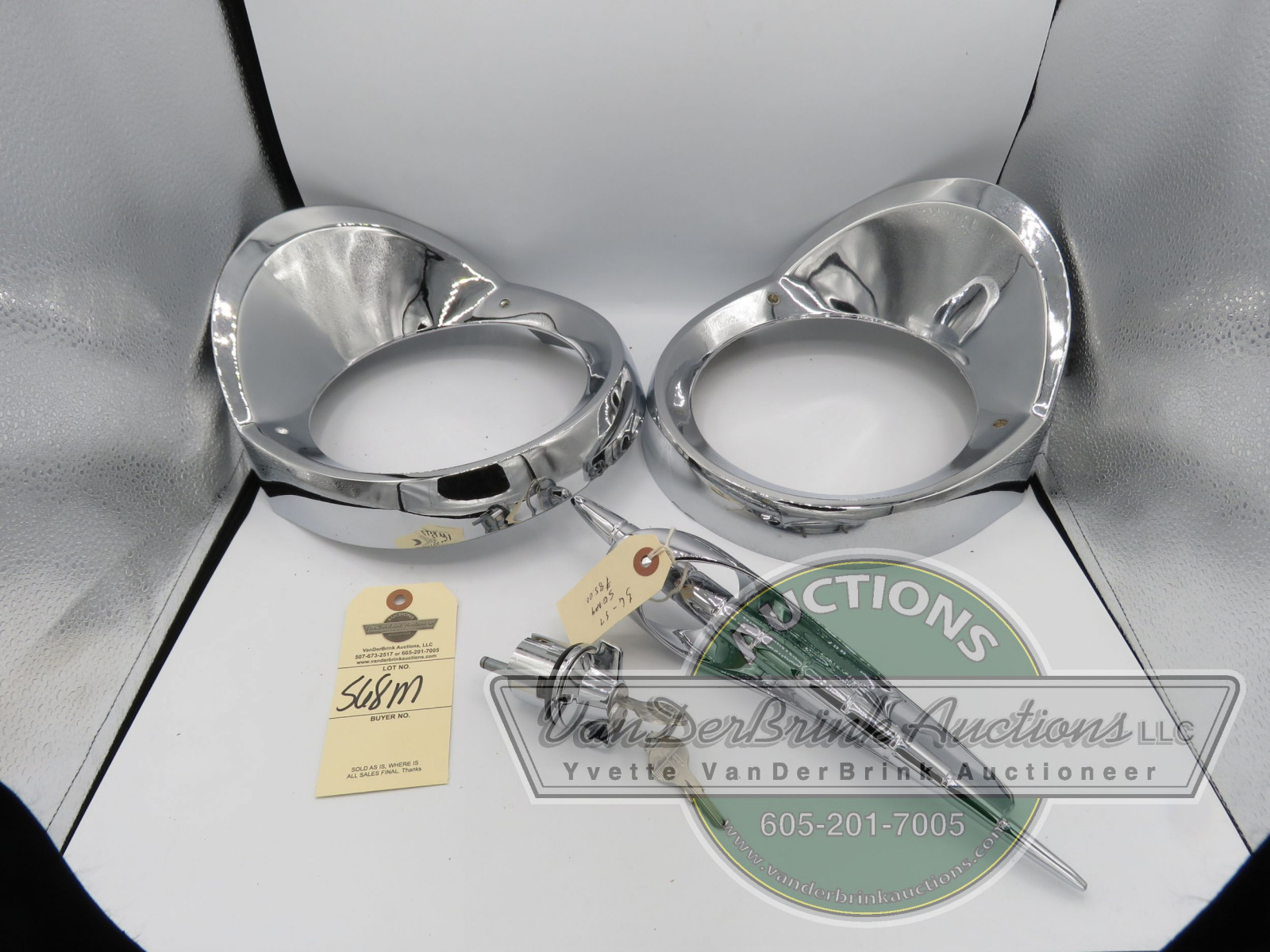 1956 STUDEBAKER HEADLIGHT BEZELS AND  PARTS - Image 1