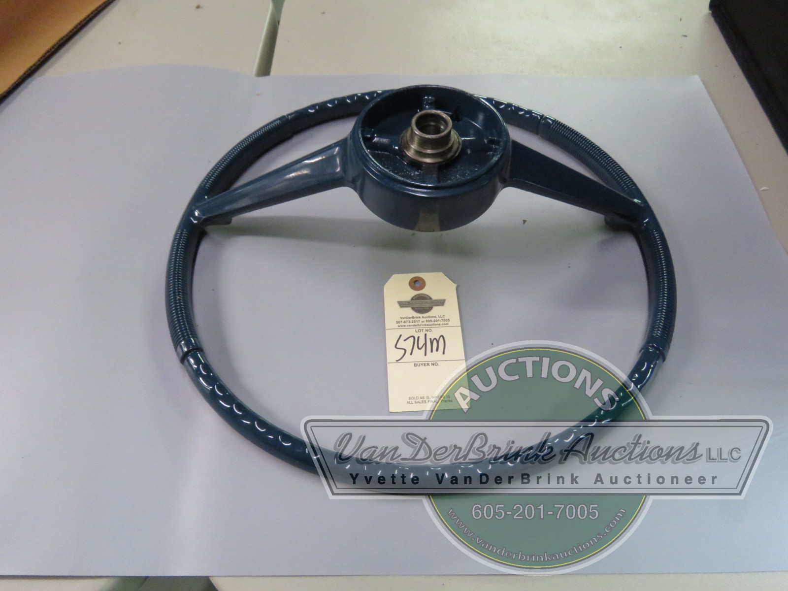 1961-66 NOS STUDEBAKER STEERING WHEEL BLUE - Image 2