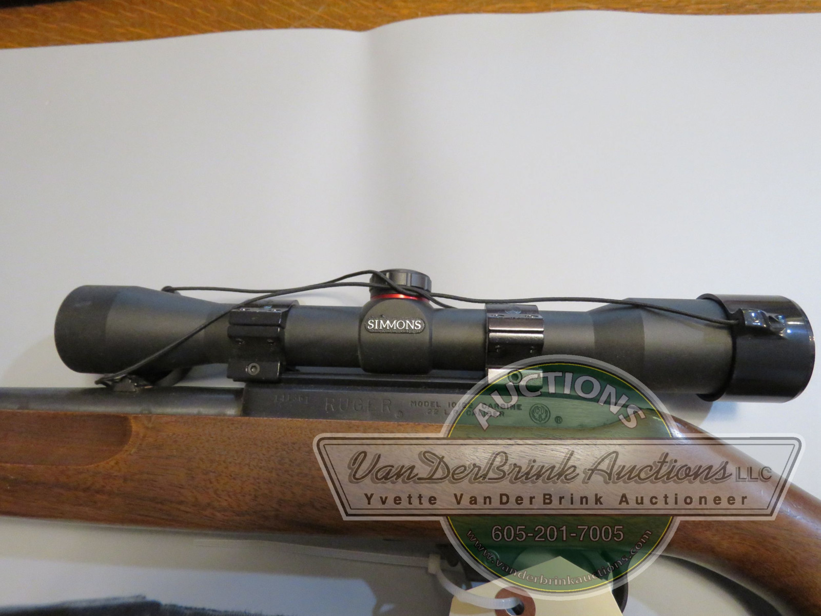 Ruger Model 10/22 .22LR Rifle with Simmons Scope 141361 - Image 2