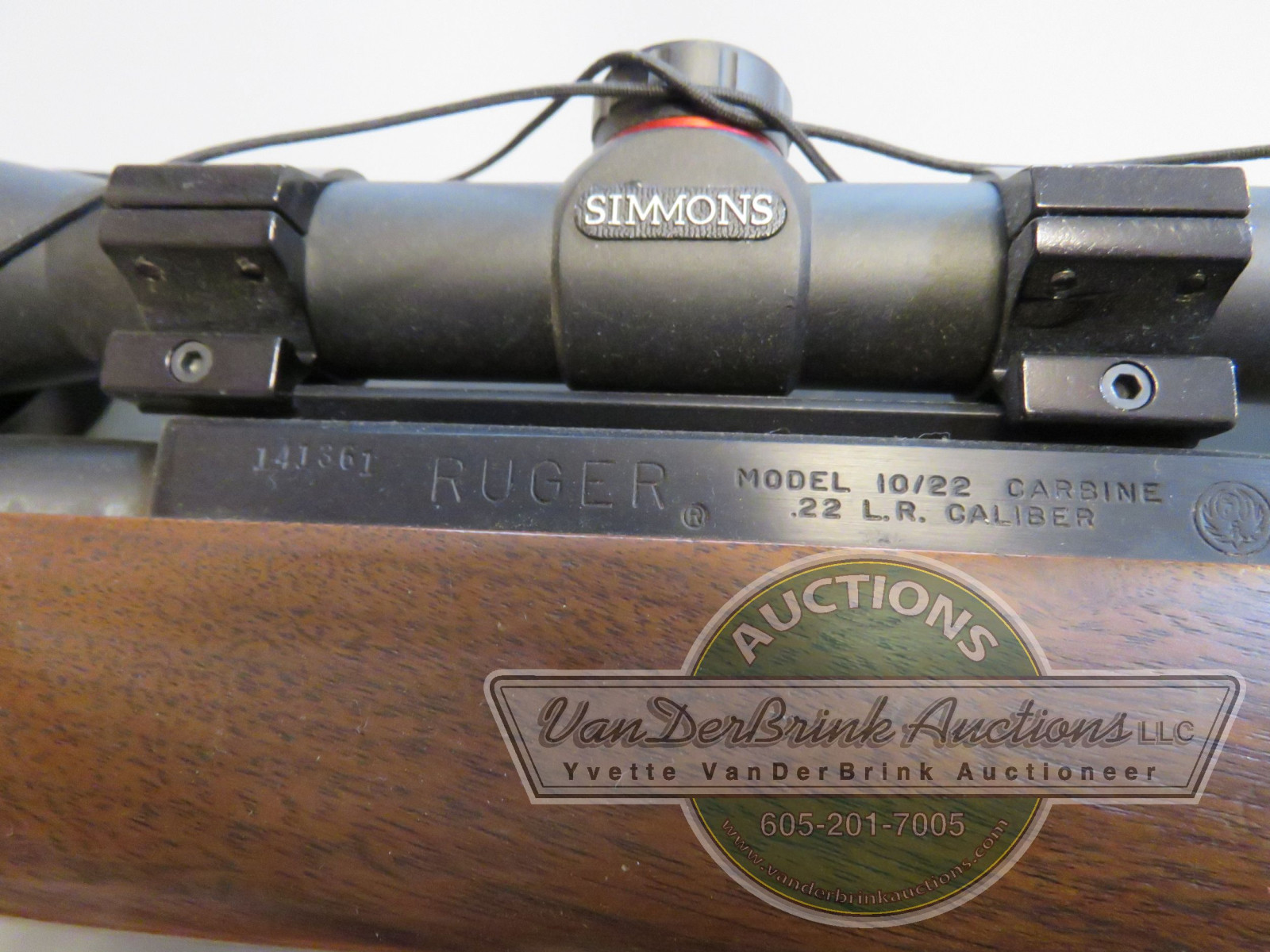 Ruger Model 10/22 .22LR Rifle with Simmons Scope 141361 - Image 3