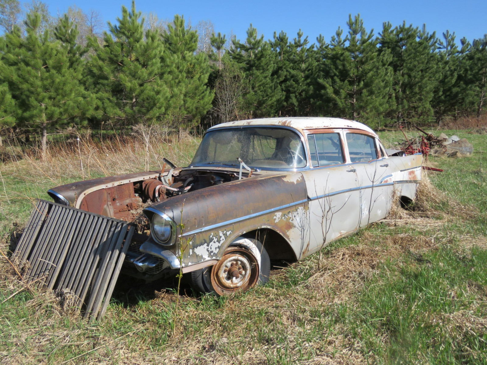 1957 Chevrolet 4dr Sedan parts only - Image 1