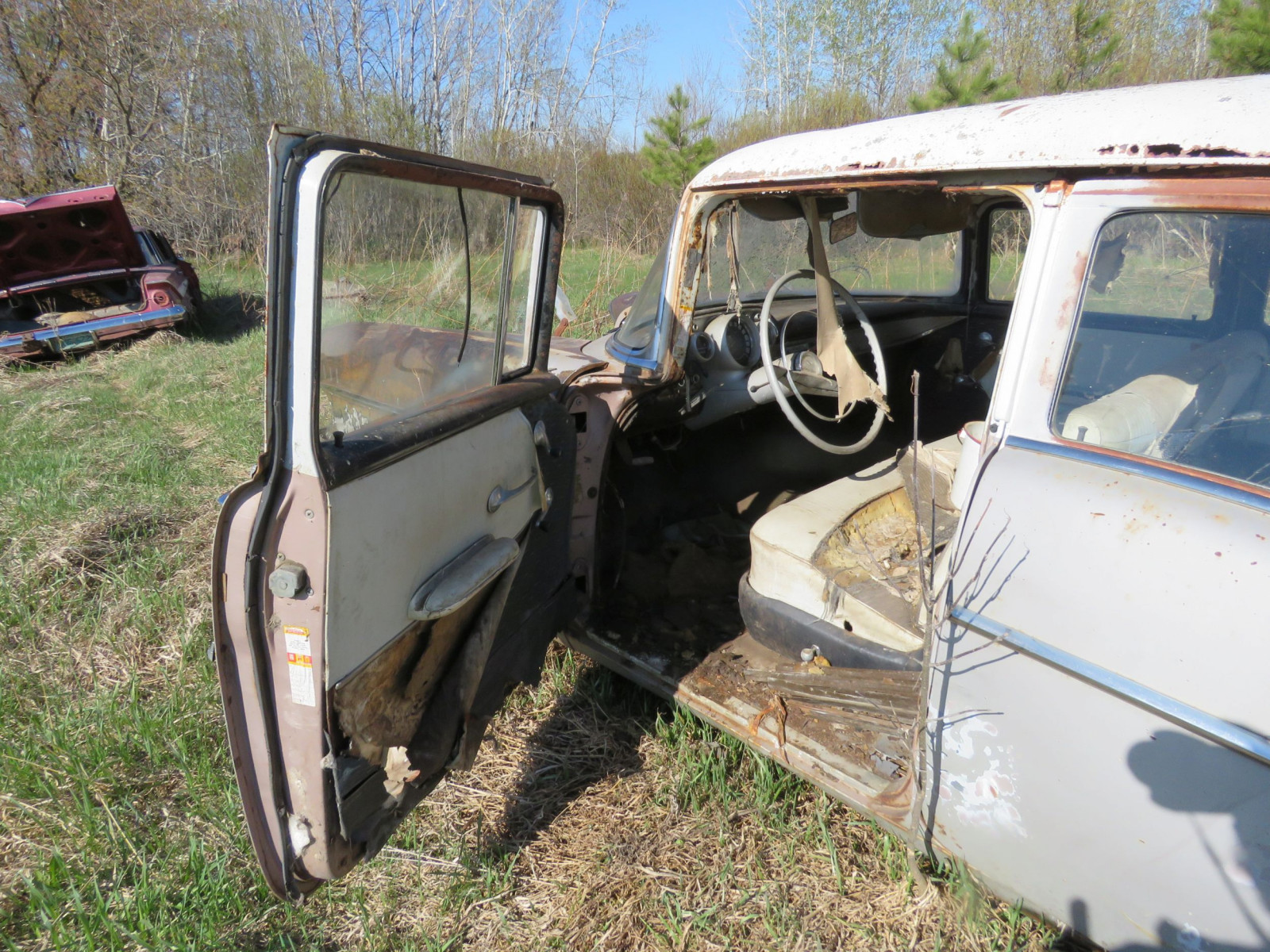 1957 Chevrolet 4dr Sedan parts only - Image 5
