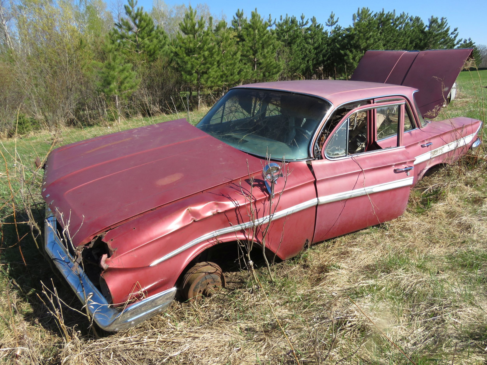 1961 Chevrolet 4dr Sedan parts only - Image 2