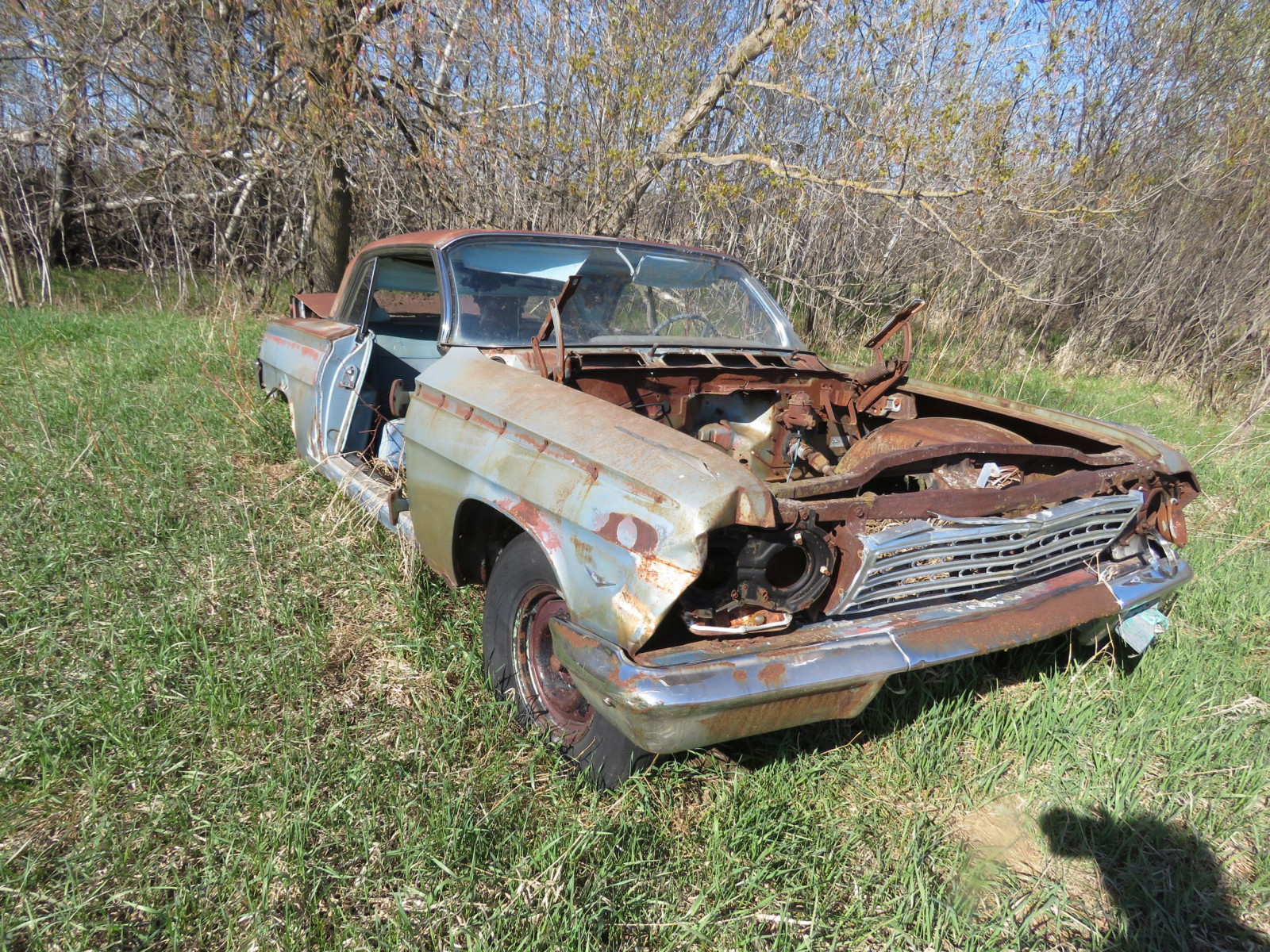 1962 Chevrolet 2dr HT rough Shell only - Image 2