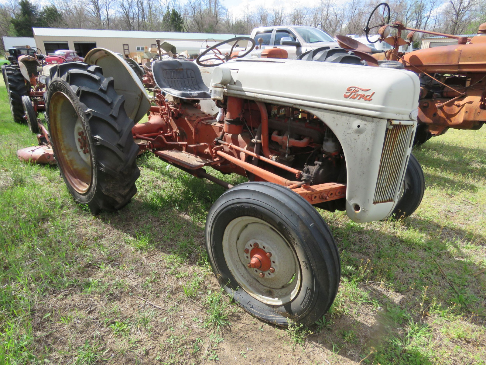 FORD N SERIES TRACTOR with 3PT MOWER - Image 3