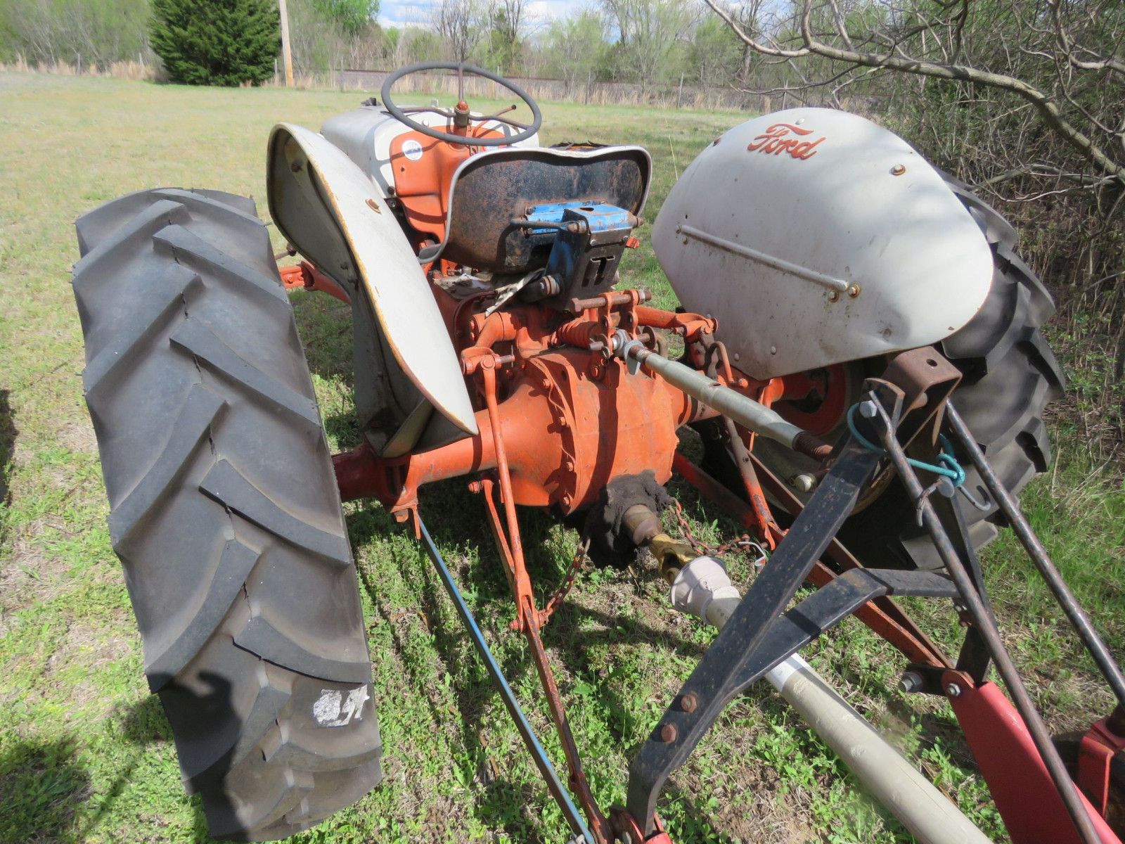 FORD N SERIES TRACTOR with 3PT MOWER - Image 6