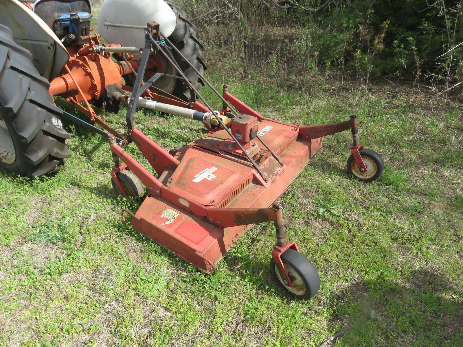 FORD N SERIES TRACTOR with 3PT MOWER - Image 7