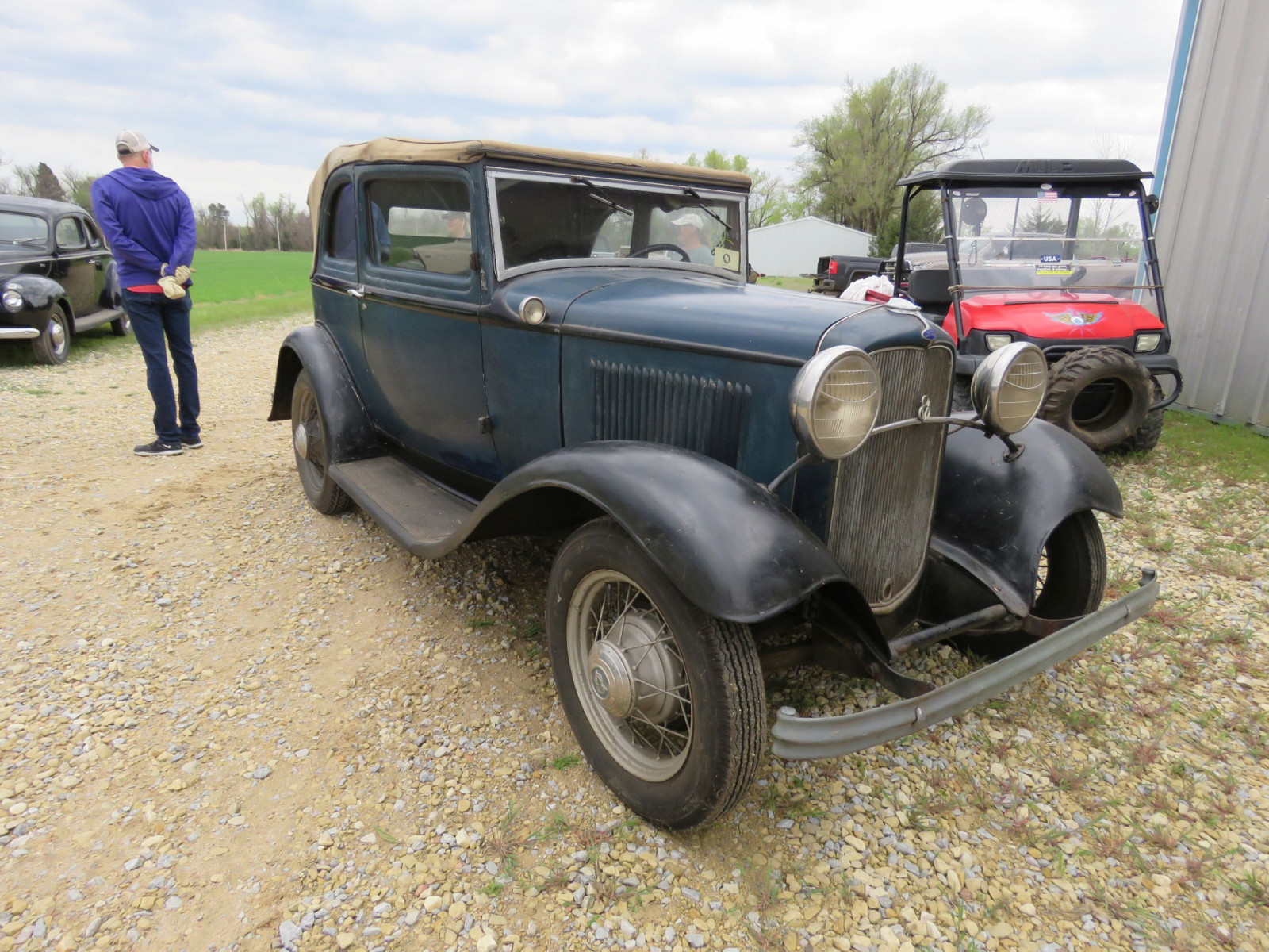 RARE 1932 FORD B400 2DR CONVERTIBLE V8 SEDAN - Image 3