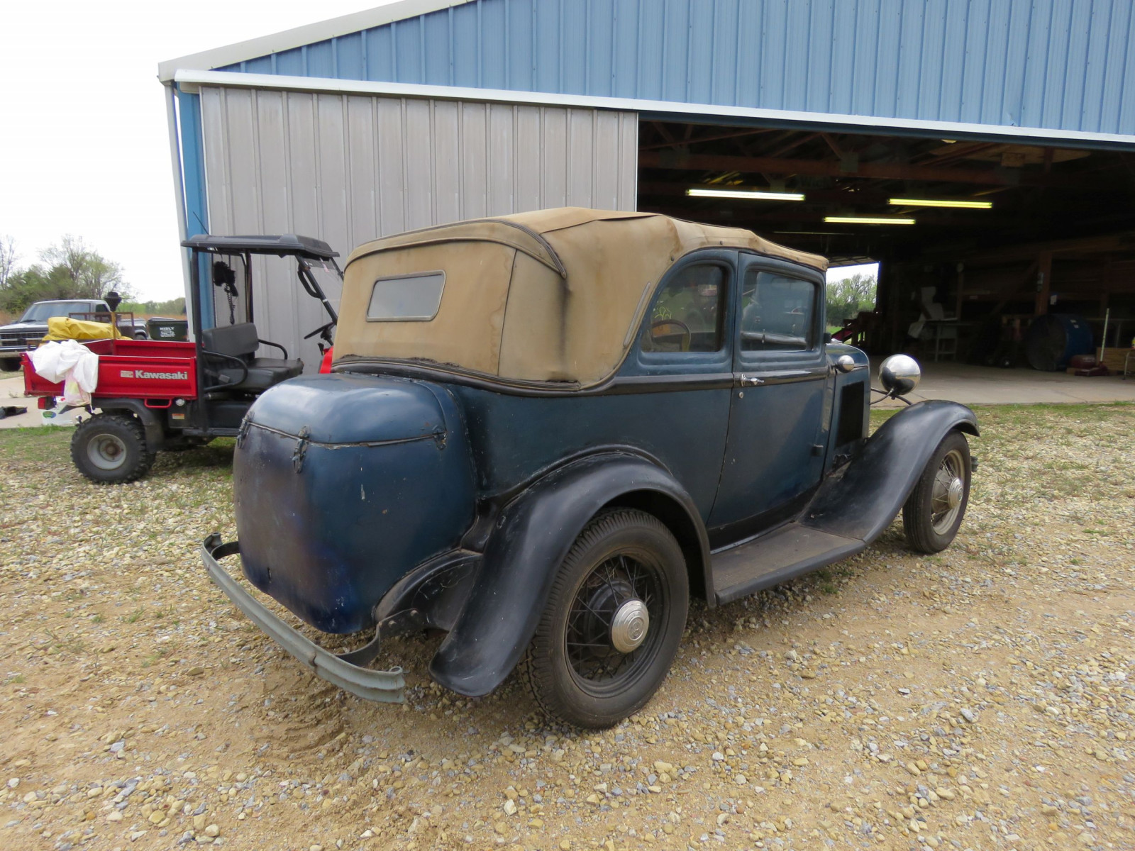 RARE 1932 FORD B400 2DR CONVERTIBLE V8 SEDAN - Image 5