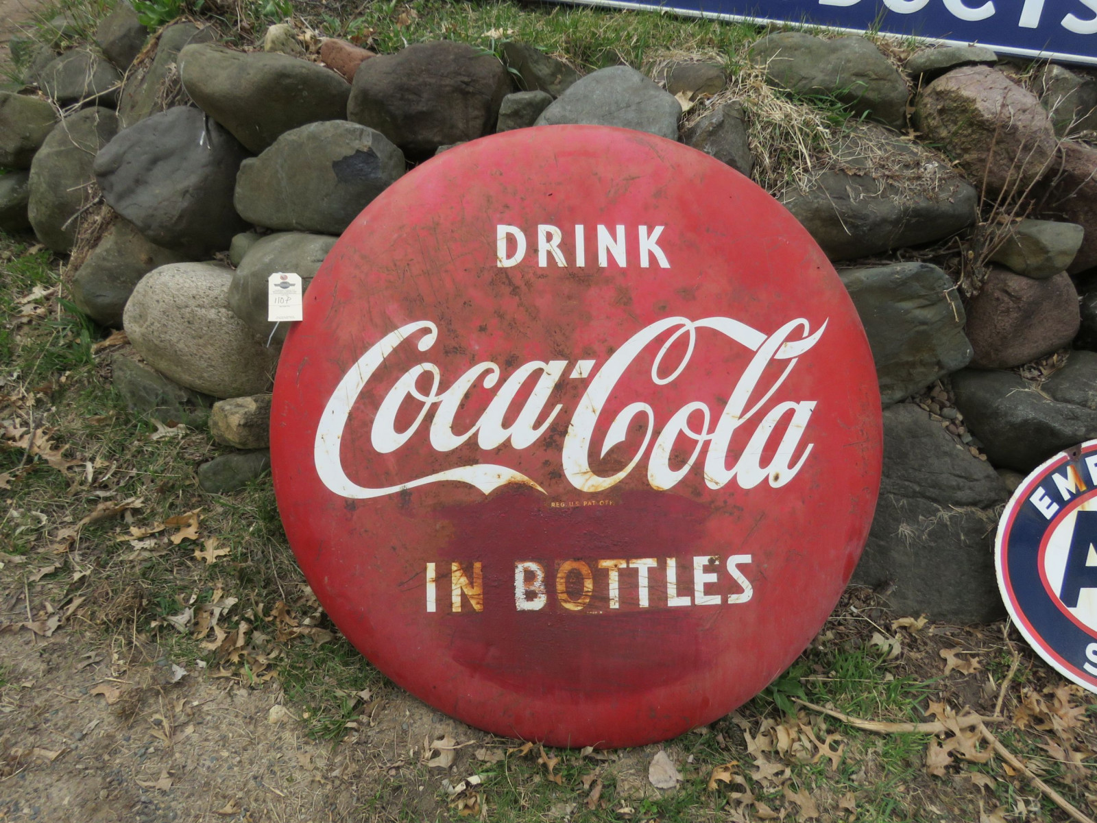 Coca Cola Single Sided Painted tin Button - Image 1