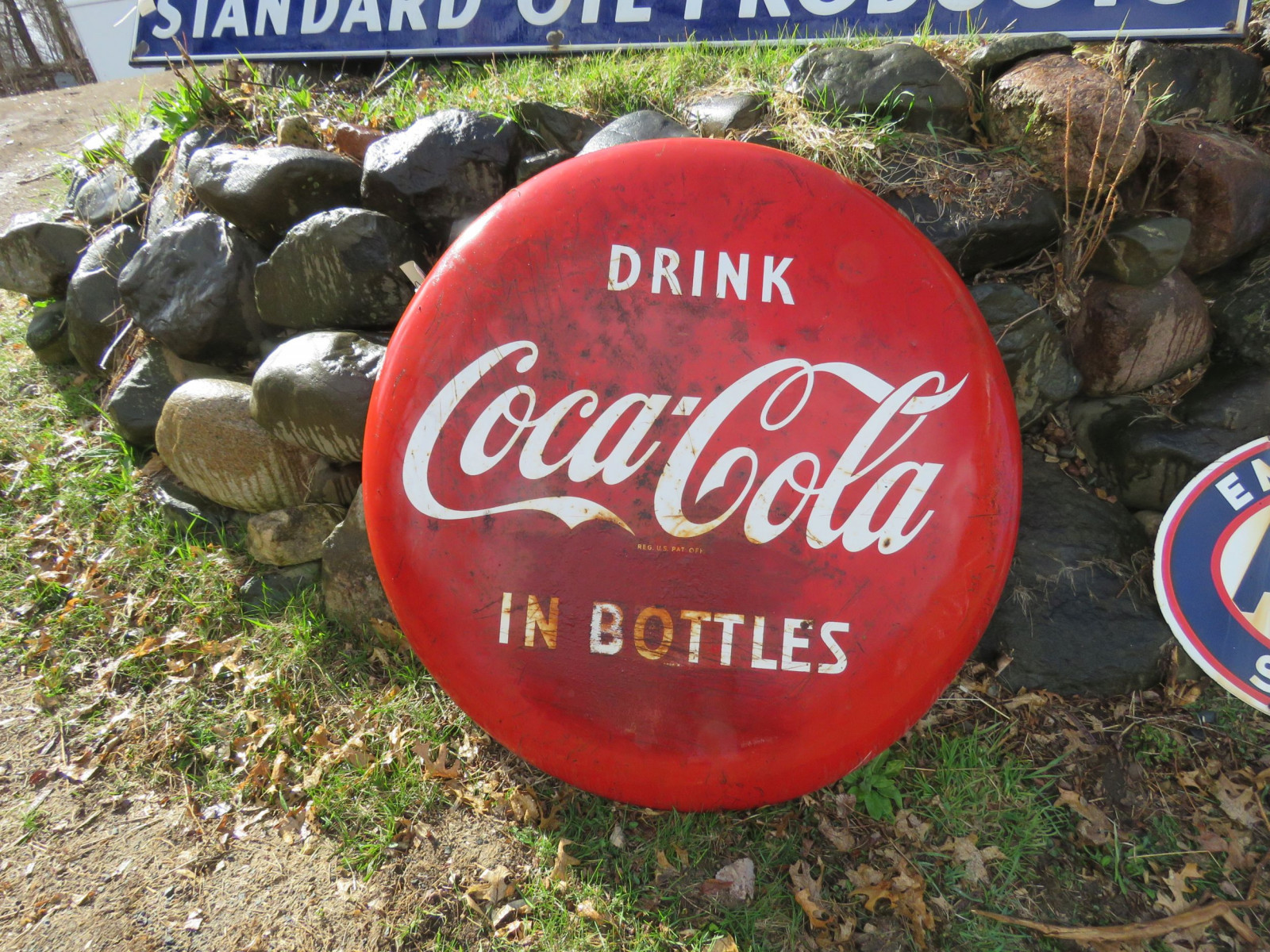 Coca Cola Single Sided Painted tin Button - Image 3