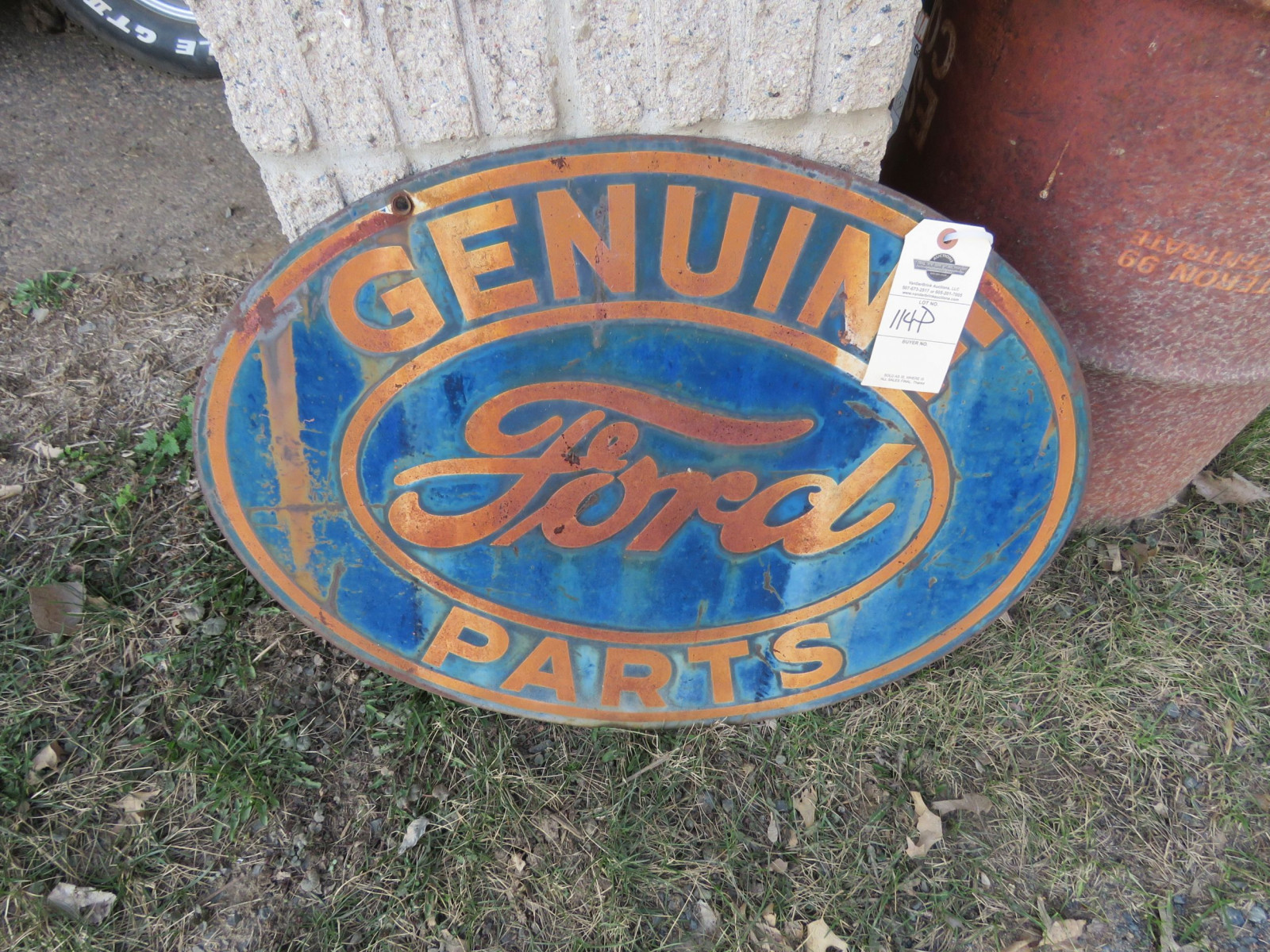 Double Sided Painted Tin Ford Sign - Image 1