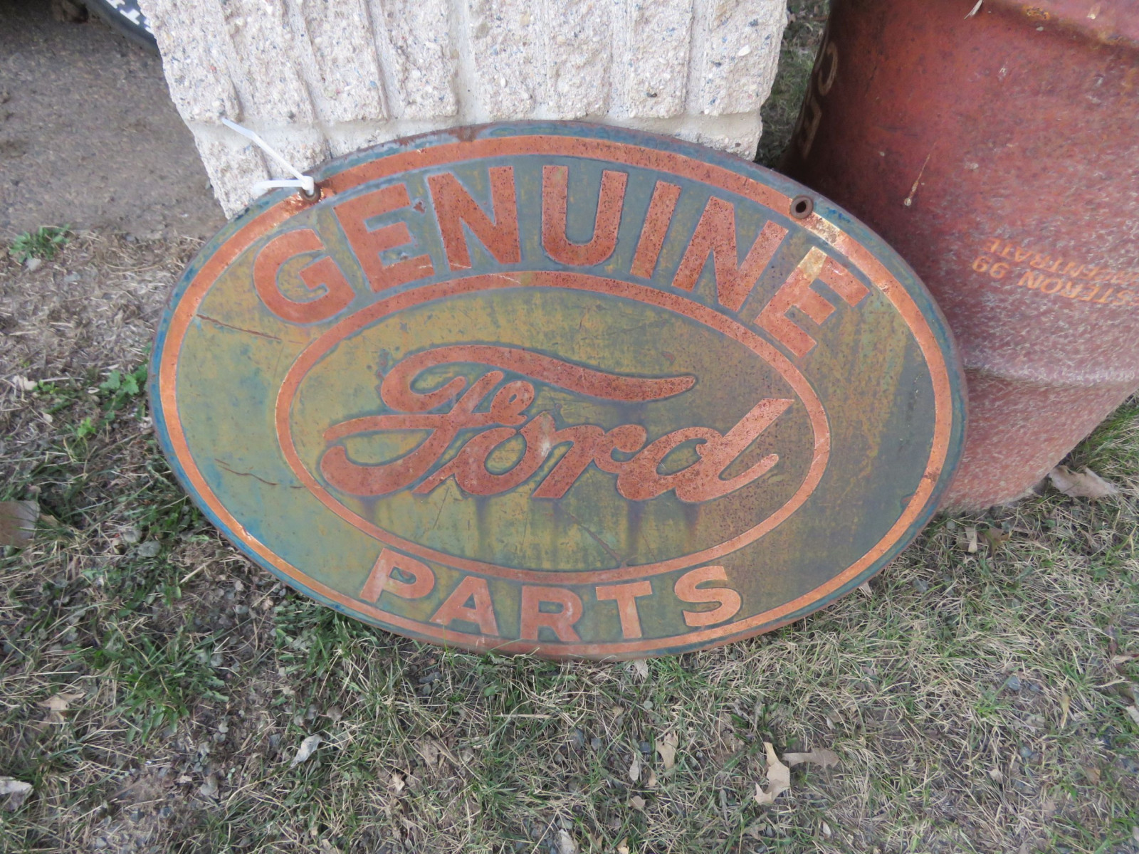 Double Sided Painted Tin Ford Sign - Image 2