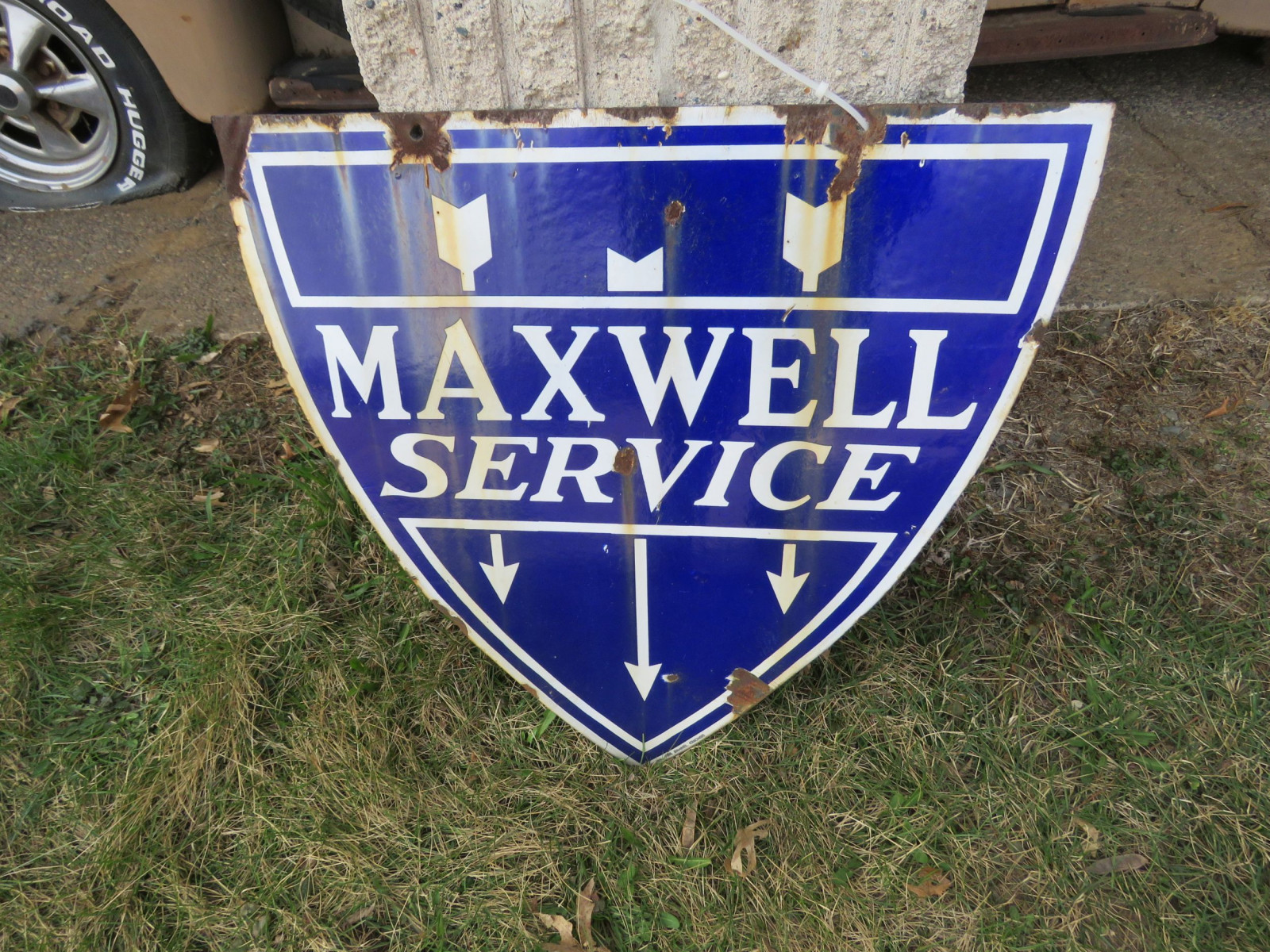 Maxwell Double sided Porcelain Sign 22x24 inches - Image 2