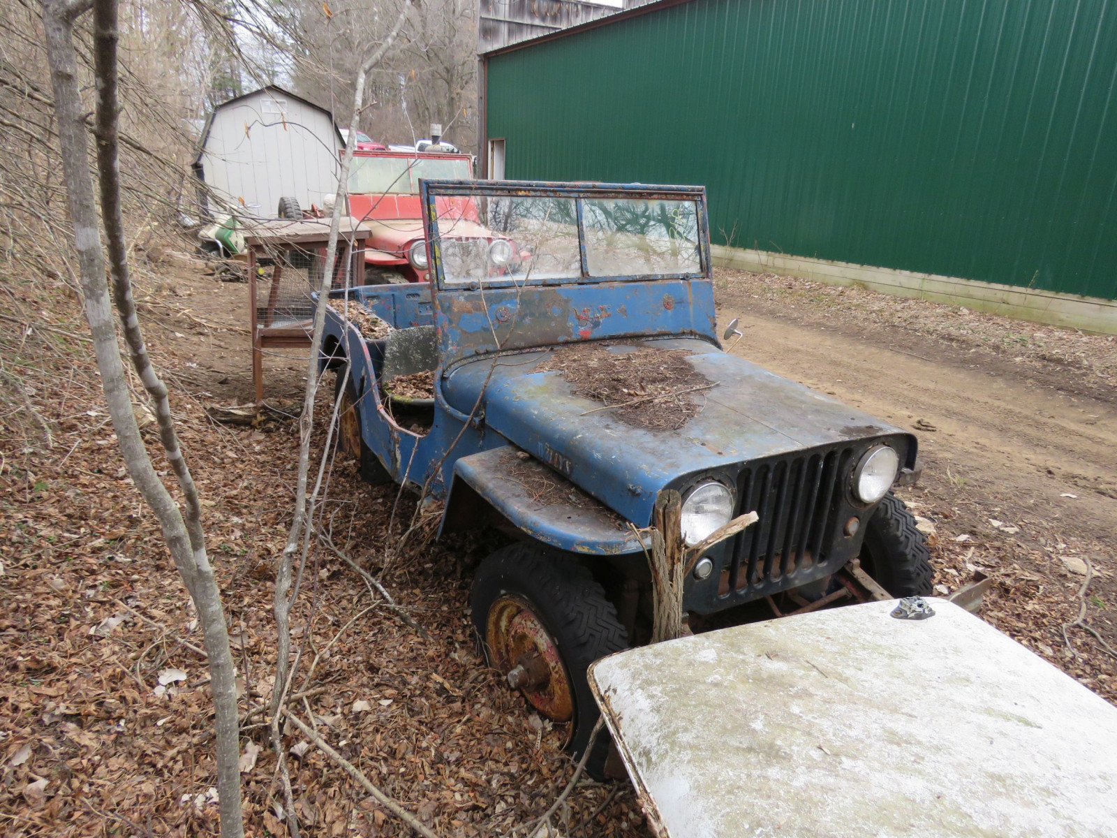 Willys CJ3A Jeep for Project or Parts - Image 2