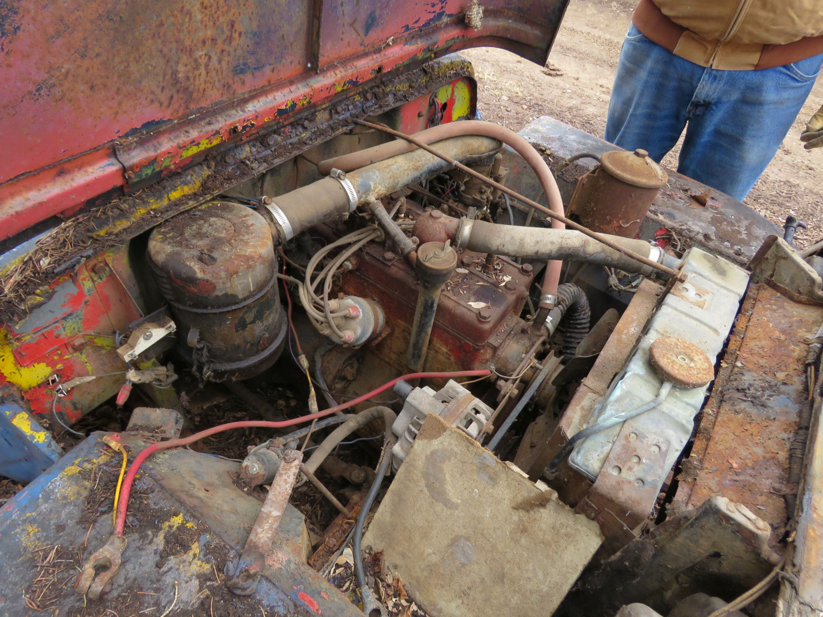 Willys CJ3A Jeep for Project or Parts - Image 3