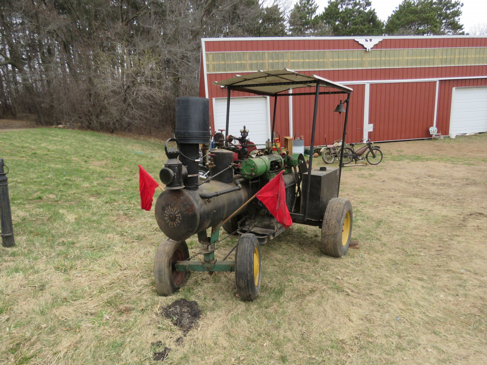 Vintage Handmade Steam Traction Tractor - Image 12