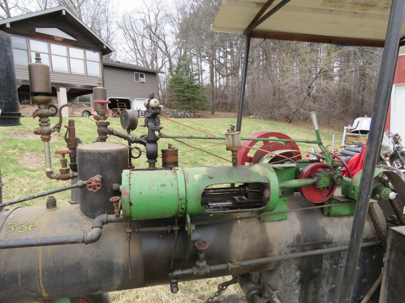 Vintage Handmade Steam Traction Tractor - Image 2