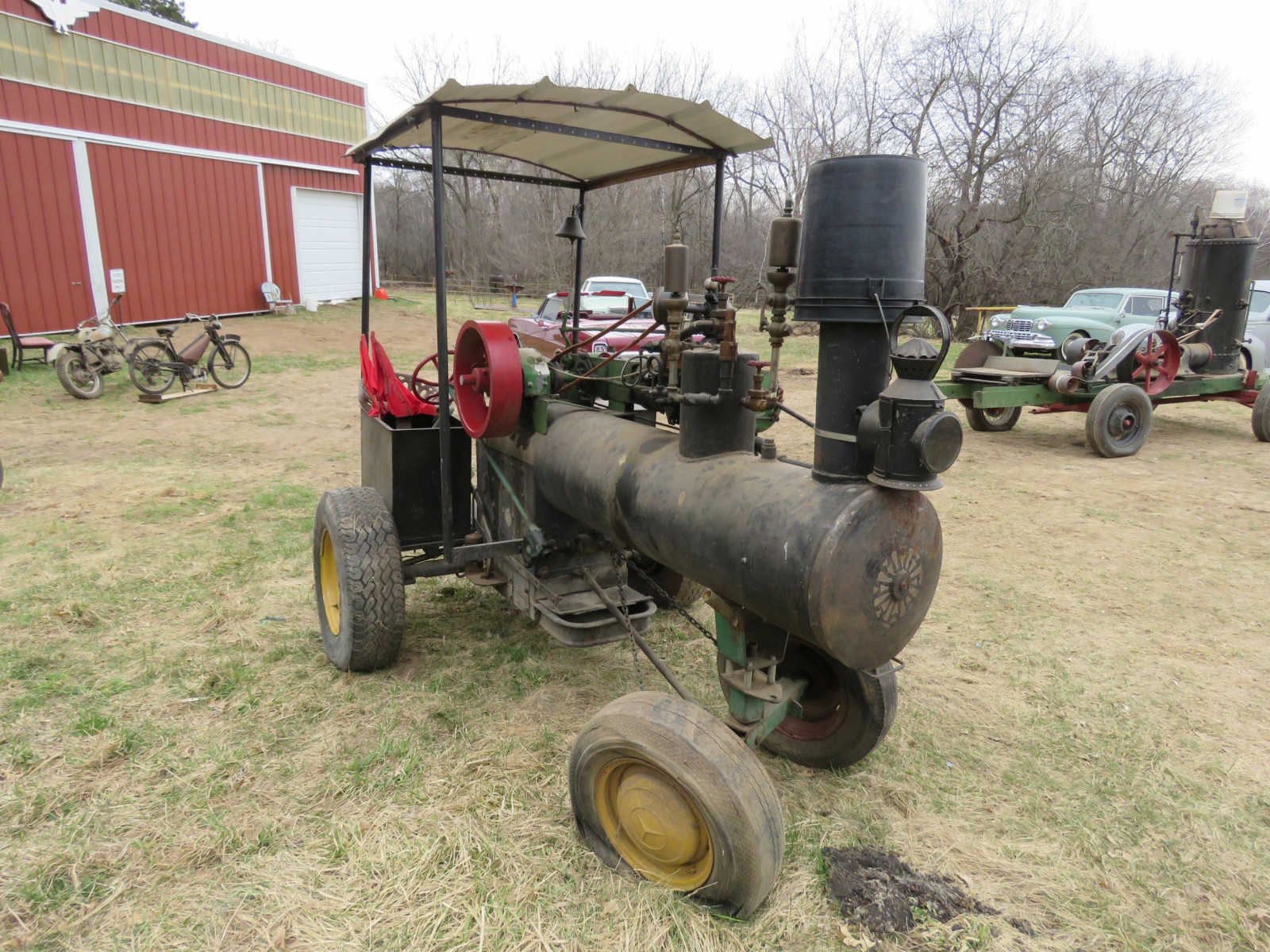Vintage Handmade Steam Traction Tractor - Image 3