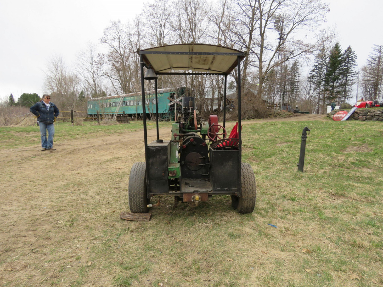 Vintage Handmade Steam Traction Tractor - Image 5