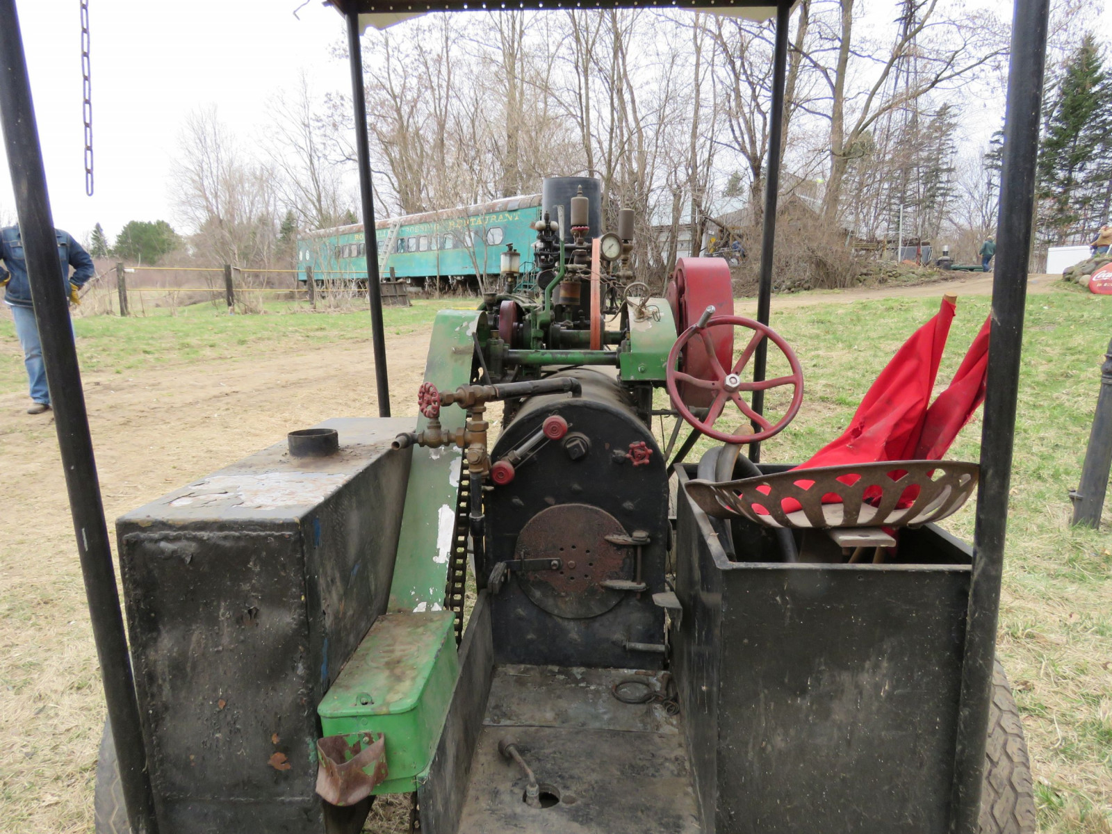 Vintage Handmade Steam Traction Tractor - Image 6