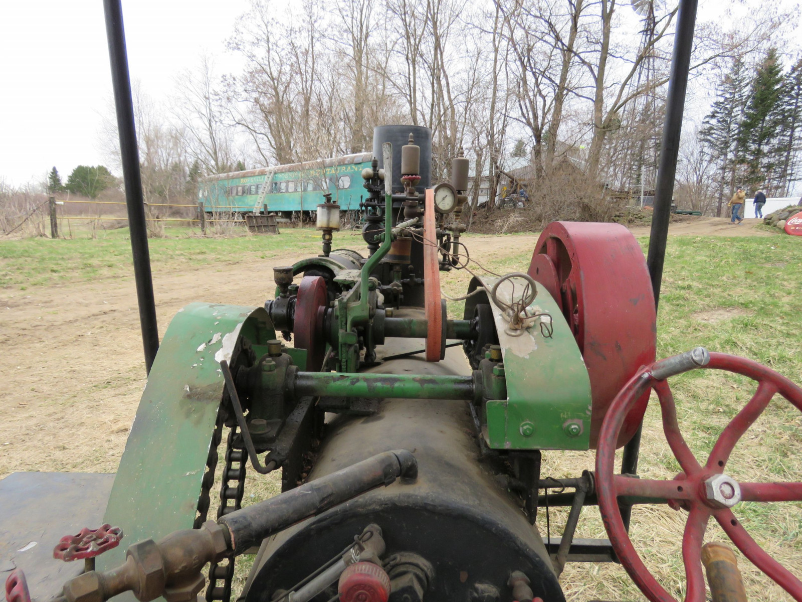 Vintage Handmade Steam Traction Tractor - Image 7